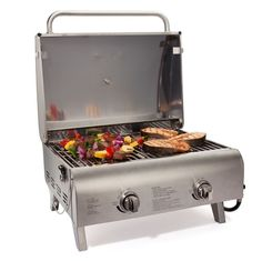 Best Gas Grills Bar B Q Grill Propane Stainless Steel Tabletop Cuisinart Travel #Cuisinart