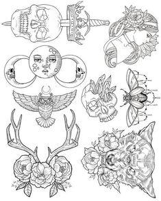 Wendy Ortiz Tattoo Flash - First Edition #TattooIdeasFirst