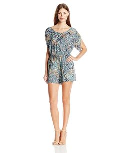 BCBGeneration Women's Flutter Short Romper * This is an Amazon Affiliate link. Click image for more details.