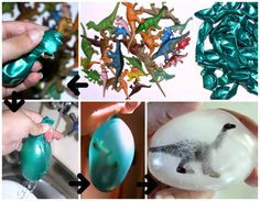Dinosaur Activities! Freeze your own dino eggs!