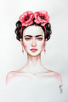 Frida Kahlo Painting/wallpaper                                                                                                                                                      Mais