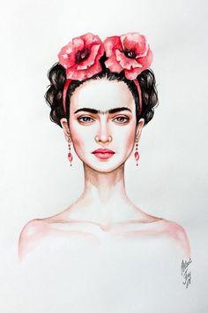 Frida Kahlo Painting/wallpaper Mais