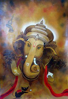 Ganesha ji pictures collection - Life Is Won For Flying (WONFY) Lord Ganesha Paintings, Ganesha Art, Krishna Painting, Indian Gods, Indian Art, Ganesh Pic, Jai Ganesh, Namaste, Om Gam Ganapataye Namaha