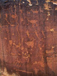 Shay Canyon Petroglyphs in the Needles District of Canyonlands National Park, Utah - photo from climb-utah