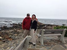 My husband and I in maine