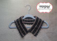 Cuellito tejido a crochet en tonos marron para este otoño. Trabajo artesanal hecho a mano, tecnica crochet Personalized Items, Craft Work, Handmade