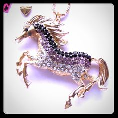 Selling this BETSEY JOHNSON SWAROVSKI CRYSTAL HORSE NECKLACE in my Poshmark closet! My username is: cmccullough9. #shopmycloset #poshmark #fashion #shopping #style #forsale #Betsey Johnson #Jewelry