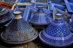 Tunisian Tagines by goingslowly, via Flickr