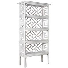 David Francis Furniture Chippendale Etagere Steel Gray By ($2,390) ❤ liked on Polyvore featuring home, furniture, office furniture, chippendale furniture and chippendale style furniture