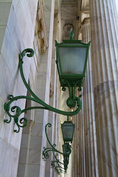 Light fixtures and columns, Byron White US Courthouse, 1916, Denver, Colorado.IMG_8265 LR Edit by StevenC_in_NYC, via Flickr