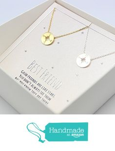 compass necklace, Best friend necklace for 2, BFF Necklace, friendship necklace for 2, silver dainty necklace, Christmas gift, from DIANPEARL https://www.amazon.com/dp/B01MZ8SHQD/ref=hnd_sw_r_pi_dp_lwEGybK4E7NC3 #handmadeatamazon