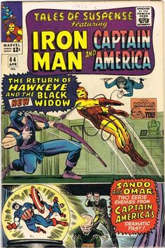 Tales Of Suspense April cover by Jack Kirby and Chic Stone Avengers Comics, Marvel Comic Books, Marvel Characters, Comic Books Art, Comic Art, Dc Comics, Jack Kirby, Tales Of Suspense, Iron Man Captain America