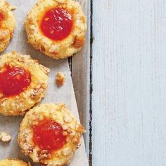 Cornmeal Thumbprint Cookies with Tomato Jam | MyRecipes.com