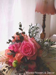 Pink,Bouquet,Floral Arrangement,Rose,Miyabi Flowers & Decor,バラ、ラナンキュラス、ピンク、ブーケ、フラワーアレンジメント