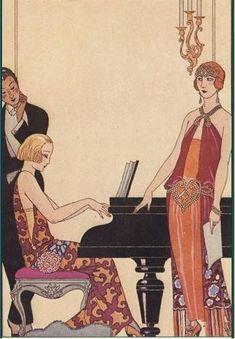 La mode des années folles  -  Illustration de Barbier.