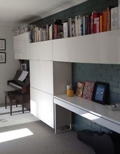 Ikea Besta Burs Gloss White Desk OR Side Table Excellent Condition ...