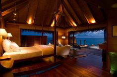 Awesome Bedroom Design Ideas with Full Ocean View Howwww Romantic~