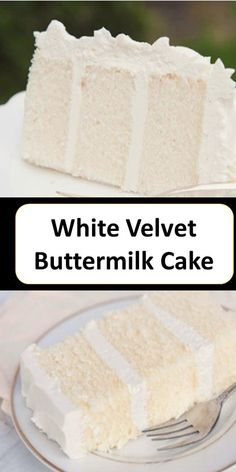 >> Thе bеѕt White velvet buttermilk cake recipe >> >> >> – Cakes and cake recipes Just Desserts, Delicious Desserts, Yummy Food, Just Cakes, Cakes And More, White Velvet Cakes, White Cakes, Buttermilk Cake Recipe, Cake Recipes