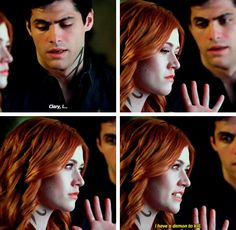 But I thinks this did something in their relationship. He maybe still doesn't like Clary but it could bring them closer together in some time...