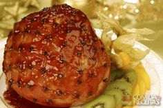 Mustard and honey glazed gammon Christmas Dishes, Christmas Cooking, I Love Food, Good Food, Yummy Food, Honey Glazed Gammon, Recipe Details, Tasty Dishes, Food Hacks