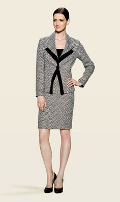 BROMPTON black and ivory tweed suit  | Carlisle Spring 2014 Collection