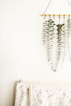 Oh The Sweet Things: DIY   Hanging Eucalyptus