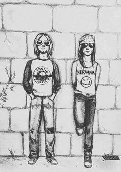 Music Rock Painting 28 New Ideas Axl Rose, Guns N Roses, Arte Grunge, Rock Argentino, Rock Band Posters, Music Drawings, Music Illustration, Rock Legends, Kurt Cobain