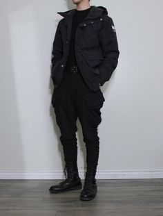 """all black inspo thread - """"/fa/ - Fashion"""" is imageboard for images and discussion relating to fashion and apparel. Edgy Outfits, Grunge Outfits, Cool Outfits, Fashion Outfits, Tomboy Fashion, Look Fashion, Streetwear Fashion, Look Cool, Aesthetic Clothes"""