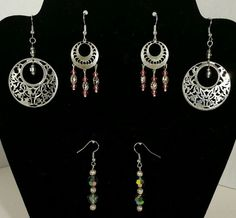 Pierced drop silver fish hook earrings glass bead American Indian Inspired in Jewelry & Watches, Fashion Jewelry, Earrings | eBay