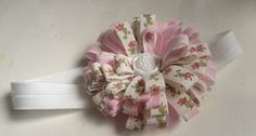 Vintage Pink Stripe with Pink Roses Baby Girls by fernandfawn, $10.00