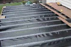 Waterproofing a second story deck