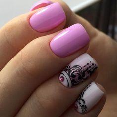 Monogram nails, Nails trends Short nails Spring nail art, Spring nails Two color nails, Two-colored bright nails, White and pink nails Pink Nail Designs, Best Nail Art Designs, Spring Nail Art, Spring Nails, Monogram Nails, Two Color Nails, Stars Nails, Nail Art Design Gallery, Gel Nails French