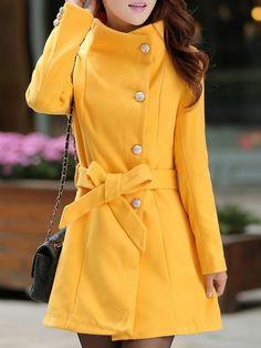 Ladylike Elegant Overcoat Overcoats from fashionmia.com