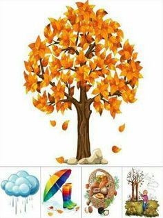 Seasons Activities, Autumn Activities For Kids, Fall Preschool, Preschool Learning Activities, Preschool Activities, Autumn Crafts, Spring Crafts, Weather Art, Preschool Coloring Pages