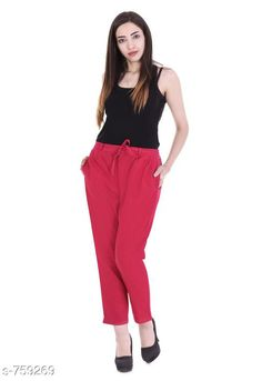 Checkout this latest Women Trousers Product Name: *Stylish Cotton Flex Women's Pant* Fabric: Cotton Flex Waist Size: S- 22 in to 26 in M - 26 in to 30 in L - 30 in to 34 in XL - 34 in to 38 in XXL - 38 in to 42 in 3XL- 42 to 46 in Length: Up To 40 in           Type: Stitched Description: It Has 1 Piece Of Women's Pencil Pant Pattern: Solid Country of Origin: India Easy Returns Available In Case Of Any Issue   Catalog Rating: ★4 (461)  Catalog Name: Stylish Premium Cotton Flex Pencil Pants Vol 1 CatalogID_86466 C79-SC1034 Code: 123-759269-957