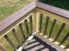 Composite Decking, PT railings & balusters with Composite Deck board as top rail. Building A Floating Deck, Building A Deck, Composite Decking, Decks And Porches, Living Room Remodel, Railings, Living Room Kitchen, Outdoor Furniture, Outdoor Decor