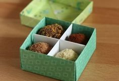 961221995866 Make your own gift box with optional divider. Has picture written  instructions as well