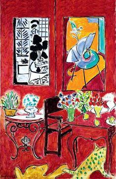 """Grand Intérieur rouge (1948), final éclatant des six """"grands intérieurs symphoniques"""" de Vence."""