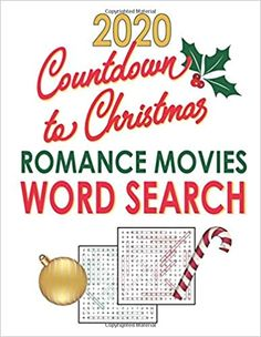 Amazon.com: Countdown to Christmas 2020: Romance Movies Word Search: Holiday Word Find Puzzle Gift for Adults and Teen Puzzlers (Word Puzzles for Adults Large Print) (9798694574334): JBC Word Search: Books Great gift for Hallmark Christmas Movie lovers! Includes 39 pleasantly challenging puzzles based on 2020 Hallmark Christmas movies.