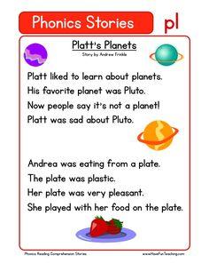 This Reading Comprehension Worksheet - Platt's Planets is for teaching reading comprehension. Use this reading comprehension story to teach reading comprehension.