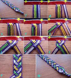DIY knotted bracelet instructions