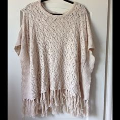 NWT boho crochet poncho Forever 21 poncho. New with tags and in mint condition! Boho style and really cute on! Let me know if you're interested! Forever 21 Jackets & Coats