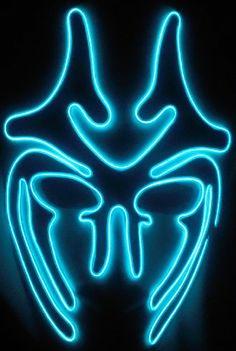 El Wire mask, blue fox | JWR Designs (qitawear.com) | Pinterest ...