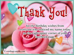 Want To Send Birthday Thank You Wishes Your Friends And Dears Who Wished On Or Looking For Messages All Those