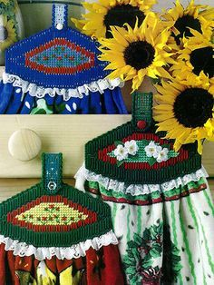 Plastic Canvas Projects Creating Plastic Canvas Towel Toppers and Holders … J Craft, Craft Fairs, Craft Ideas, Plastic Canvas Crafts, Plastic Canvas Patterns, Canvas Designs, Canvas Ideas, Tatting Tutorial, Vintage Crochet Patterns