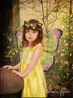 beautiful little fairy in yellow