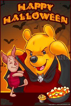 Pooh and Piglet Disney Halloween