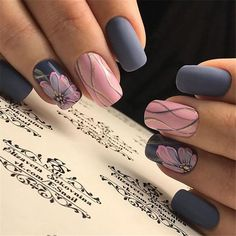 A manicure is a cosmetic elegance therapy for the finger nails and hands. A manicure could deal with just the hands, just the nails, or Pretty Nail Designs, Simple Nail Art Designs, Cute Nails, Pretty Nails, Hair And Nails, My Nails, Neon Nails, Yellow Nails, Gold Nails