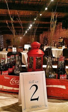 Coca-Cola wedding centerpieces