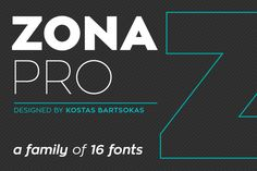 Zona Pro (16 Weights) by Kostas Bartsokas on @creativemarket